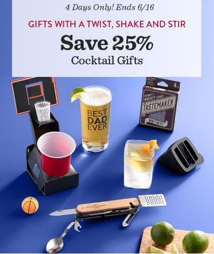 25% Off Cocktail Gifts from Cost Plus World Market