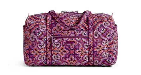 Iconic Large Travel Duffel from Vera Bradley
