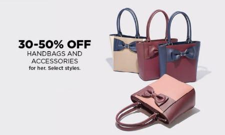 30-50% Off Handbags & Accessories