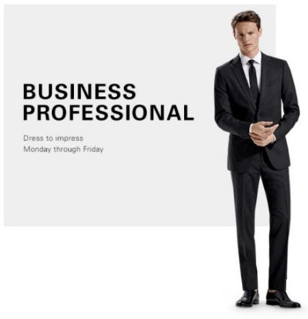 Sharp Suit and Tie Look from Hugo Boss