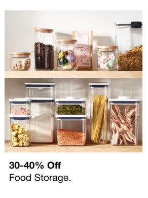 30-40% Off Food Storage