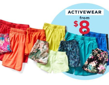 Activewear from $8 from Old Navy
