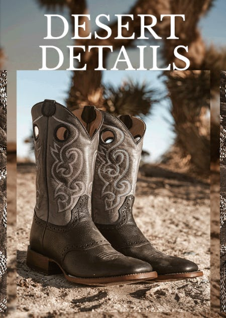 Perfect Boots for the Desert from Boot Barn