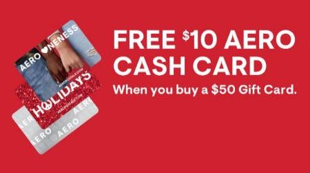 Free $10 Aero Cash Card