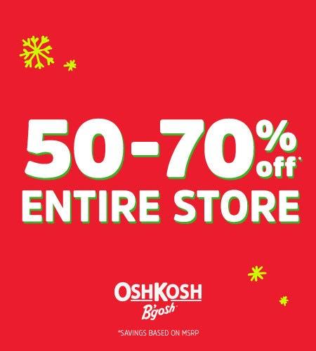 50-70% Off* from Oshkosh B'gosh