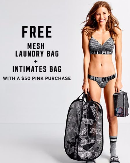 Free Mesh Laundry Bag & Intimates Bag With a $50 PINK Purchase