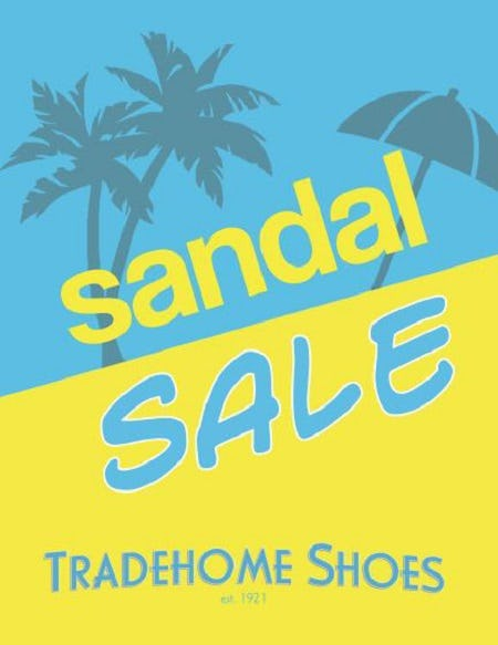 Spring Sandal Sale from Tradehome Shoes