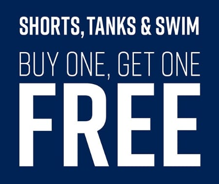 BOGO Free on Shorts, Tanks & Swim from Hot Topic