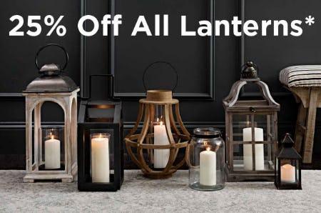 25% Off All Lanterns from Kirkland's