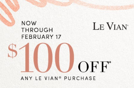 $100 Off Any Le Vian® Purchase from Jared Galleria Of Jewelry