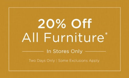 20% Off All Furniture from Kirkland's