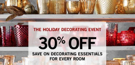 30% Off The Holiday Decorating Event