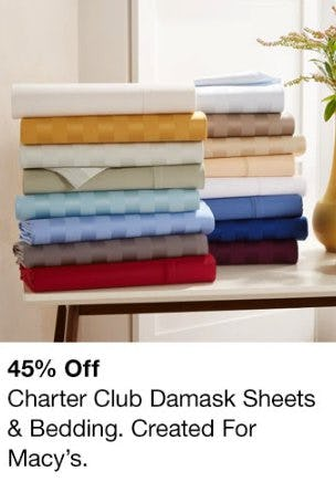 45% Off Charter Club Damask Sheets & Bedding