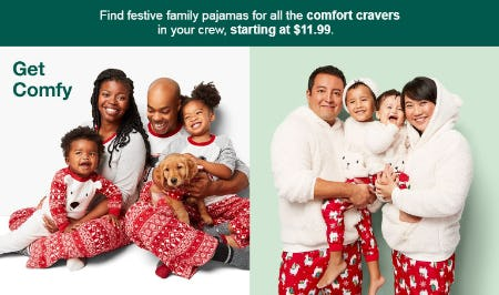 Family Pajamas Starting at $11.99 from Target