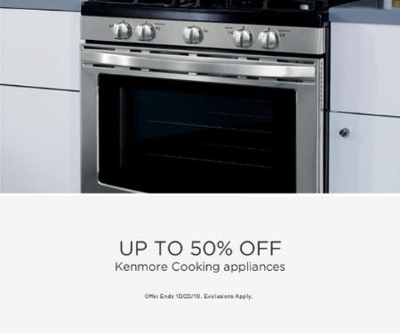 Up to 50% Off Kenmore Cooking Appliances from Sears