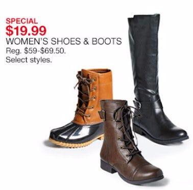 $19.99 Women's Shoes & Boots