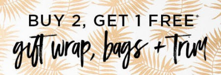 B2G1 Free Gift Wrap, Bags & Trim from PAPYRUS