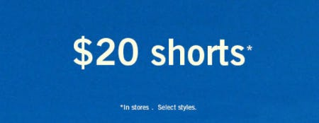 $20 Shorts from Abercrombie & Fitch