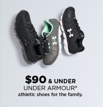 Under Armour Athletic Shoes $90 & Under from Kohl's