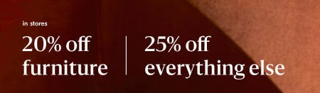 20% Off Furniture plus 25% Off Everything Else from West Elm