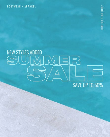 Save Up to 50% on our Summer Sale from DTLR