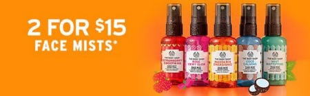 2 for $15 Face Mists from The Body Shop