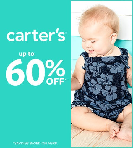 Summer Blast Off Up to 60% off from Carter's