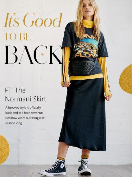 The Normani Skirt in Bold New Hue from Free People