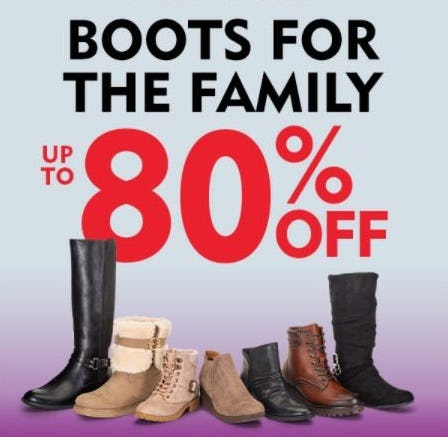 Boots for the Family up to 80% Off from Shoe Carnival