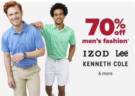 70% Off Men's Fashion from Belk