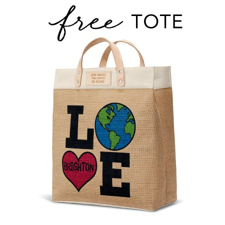 FREE GIFT - LOVE THE EARTH TOTE from Brighton