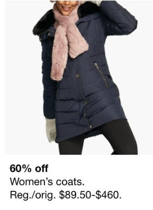 60% Off Women's Coats from macy's