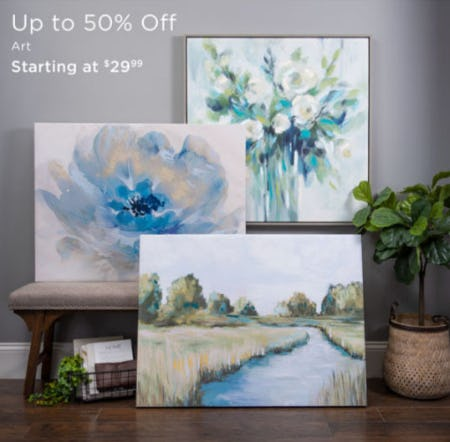 Up to 50% Off Art from Kirkland's