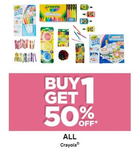 BOGO 50% Off All Crayola from Michaels