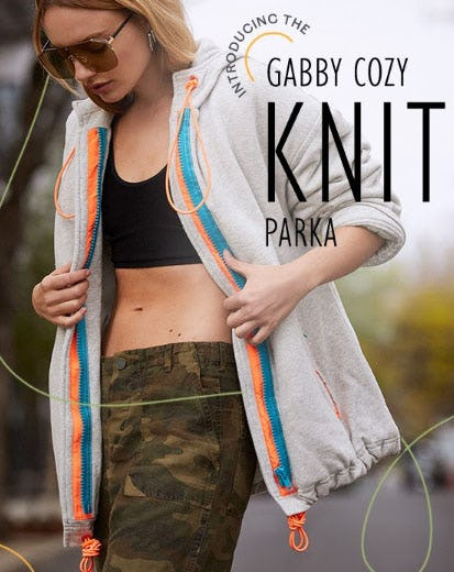Introducing The Gabby Cozy Knit Parka from Free People