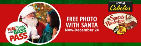 Free Photo with Santa from Cabela's