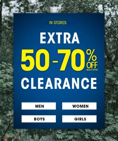 Extra 50-70% Off Clearance