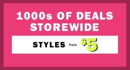 1000s of Deals Storewide from Old Navy
