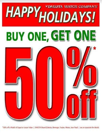 Dakota Watch Holiday Sale