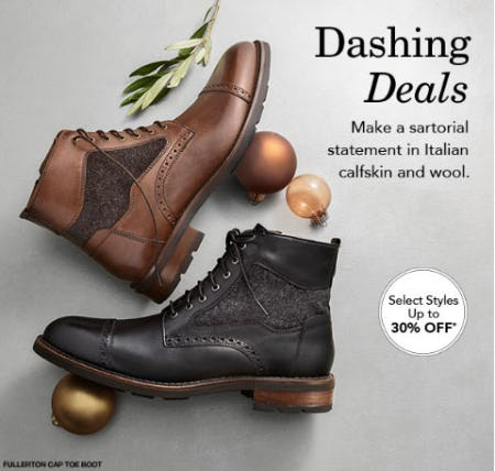 Up to 30% Off Dashing Deals from JOHNSTON & MURPHY