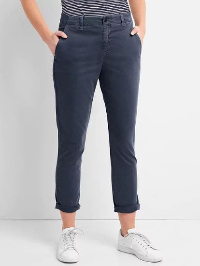 Girlfriend Twill Stripe Chinos in Color from Gap