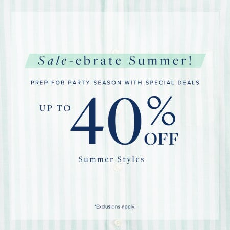 Sale-ebrate Summer! from Brooks Brothers