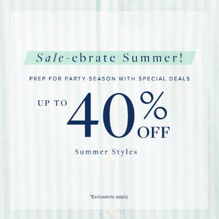 Sale-ebrate Summer!