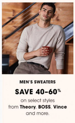 Men's Sweaters Save 40-60%