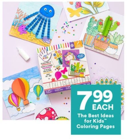 $7.99 Each The Best Ideas for Kids Coloring Pages from Michaels