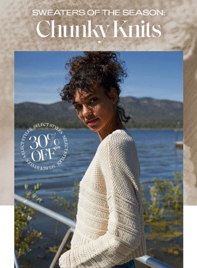 30% Off Chunky Knits from Pacific Sunwear