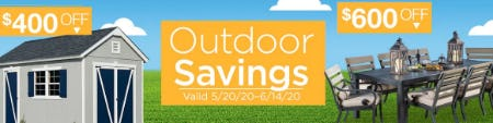Outdoor Savings up to $600 Off