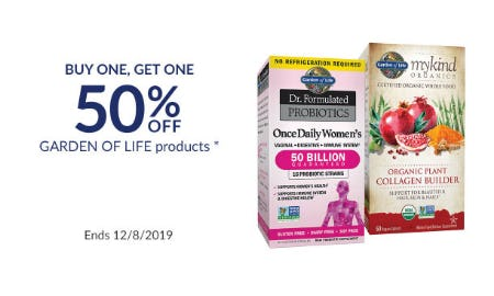 BOGO 50% Off Garden Of Life Products from The Vitamin Shoppe