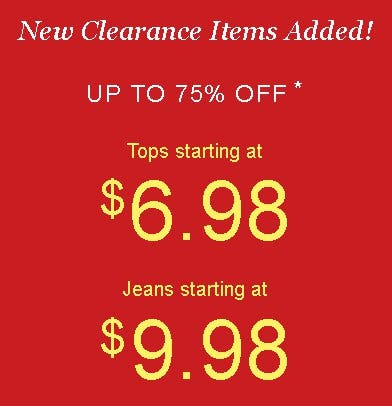 Up to 75% Off Clearance Styles from maurices