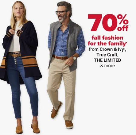 70% Off Fall Fashion for the Family from Belk